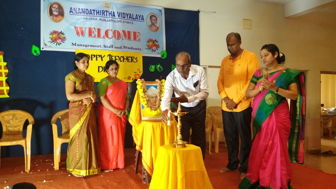 CULTURAL ACTIVITIES MARK TEACHERS' DAY CELEBRATIONS AT -ANANDATHIRTHA VIDYALAYA