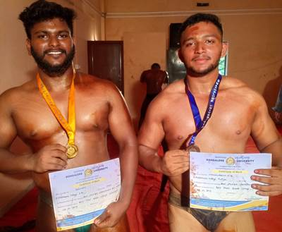 St Philomena College Puttur bags Men's Best Physique Championship