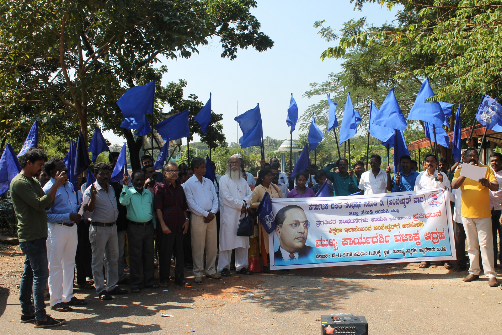 Dalit leaders demands to sacking of chief secretary Umashankar for derogatory remarks on Dr Ambedkar