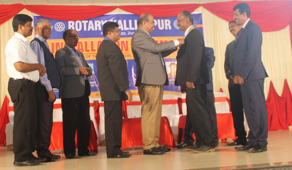 Kemmannite Rtn Braan D'Souza installed as President of Rotary Club Kallianpur