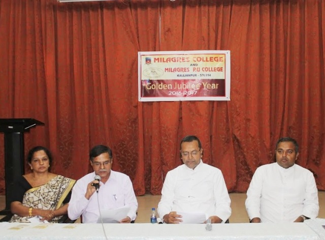 Countdown begins to celebrate Golden Jubilee of Milagres College, Kallianpur