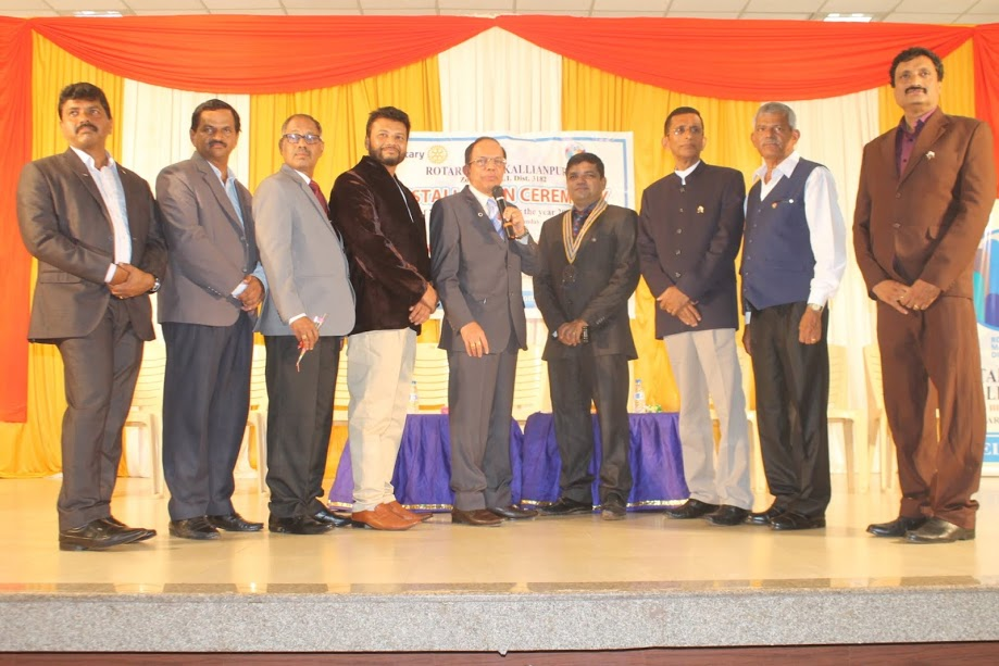 The installation ceremony of Rotary Club Kallianpur office bearers for 2017/18 held