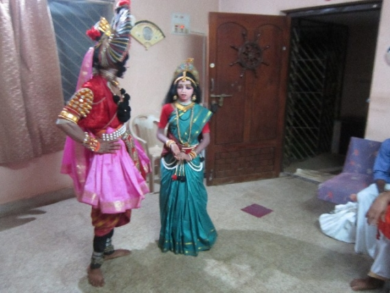 Chikkamela Balaga Yakshagana group visits every home