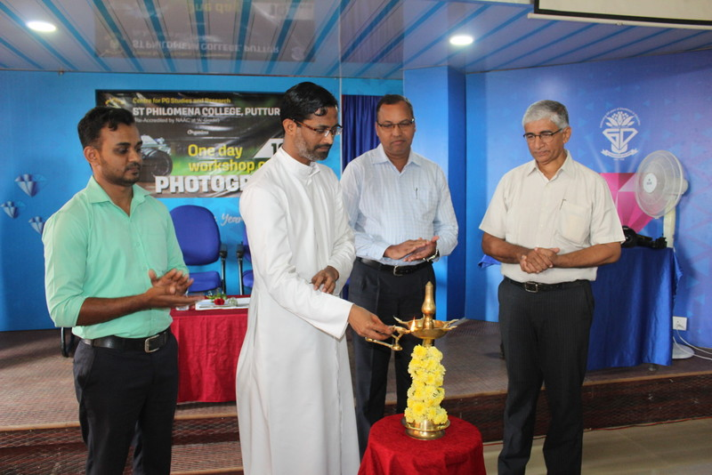 One day workshop on Photography at St Philomena College, Puttur