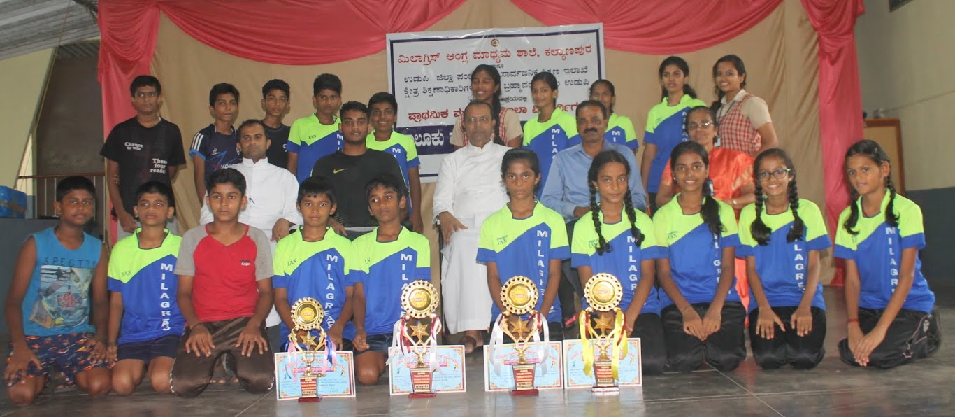 Taluk level Table Tennis match held at Milagres English Medium School, Kallianpur