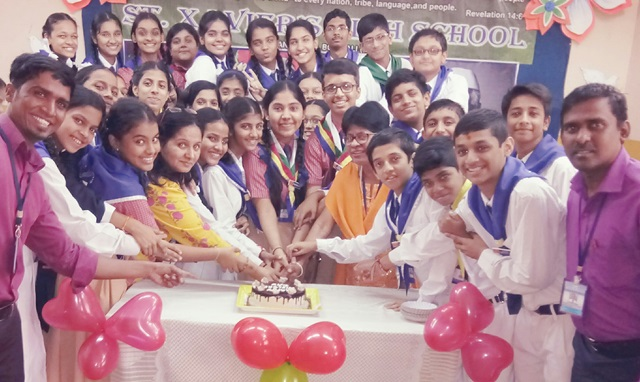 Students and teachers of St. Xavier's High School, Borivali (E) celebrated Children's Day