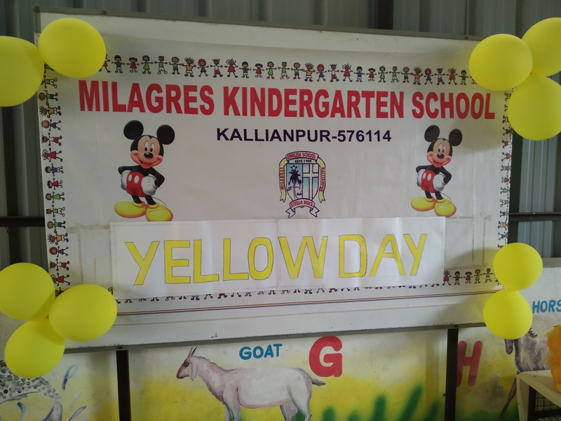 Milagres Kindergarten School turns YELLOW for a day - Tiny Tots have a gala time
