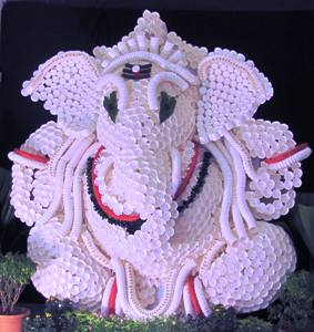 Paper cup Ganesha By Ravi and Srinath Manipal