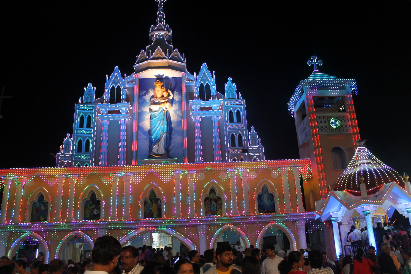 Milagres Cathedral of Udupi diocese observes 'Vespers' on the eve of Annual feast