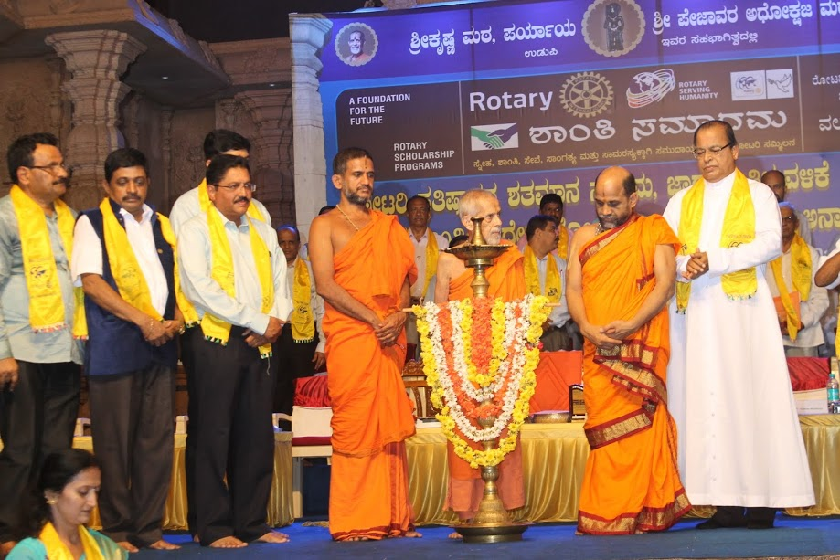 The feeling of love with each other will promote world peace - Sri Veshvesha Theertha Swamiji of Pejawar Math