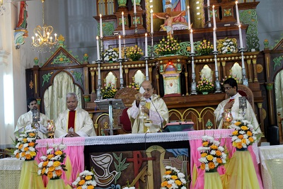 Milagres Cathedral, Kallianpur observes the titular feast of Our Lady of Miracles on July 9