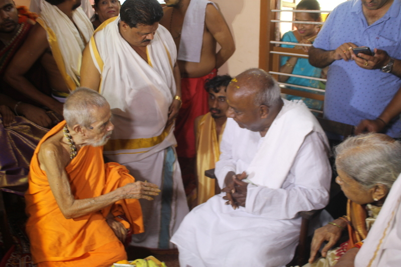 As a prime minister, H D Devegowda served the nation most better - Sri Vishweshare Theertha Swami of Pejawar Math