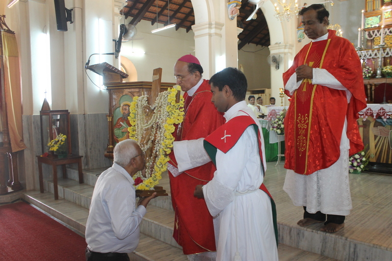 The passage of Jericho Holy Cross concludes in Udupi diocese at Milagres Cathedral, Kallianpur