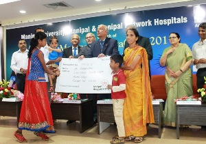 Dr. H. S. Ballal, Pro Chancellor of Manipal University launches Manipal Arogya Card Scheme 2017