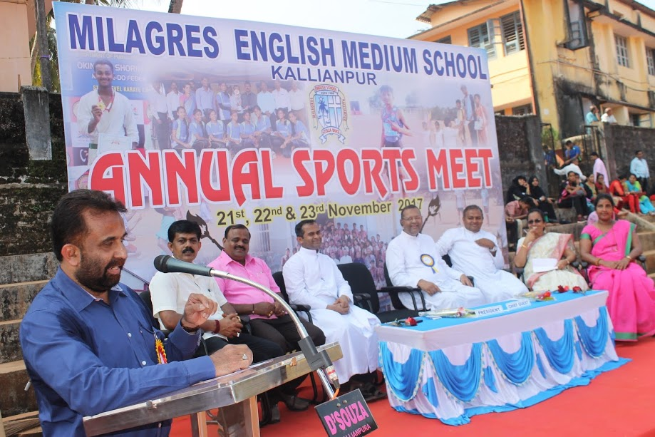 Very impressive display of Milagres English Schools inaugural of Annual Sports Meet 2017-18