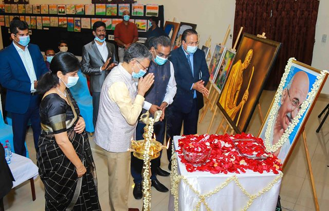 Indian Ambassador inaugurates Painting Exhibition on Mahatma Gandhi