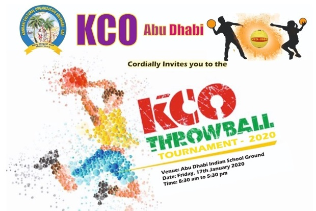 "KCO Throwball Tournament 2020"" on Friday, the17th"