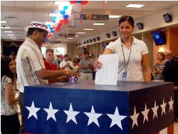 Voting party by U.S. Consulate General, Mumbai.