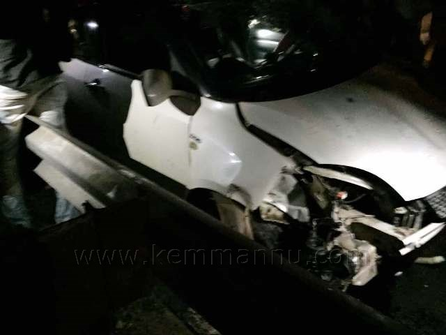 Two from Bangalore injured in an accident at Kallianpura/Santhekatte Junction.