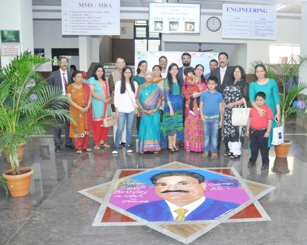 Aldel Education Trust Celebrated NEW YEAR & 60th B'Day of Mr. Albert W.D'Souza
