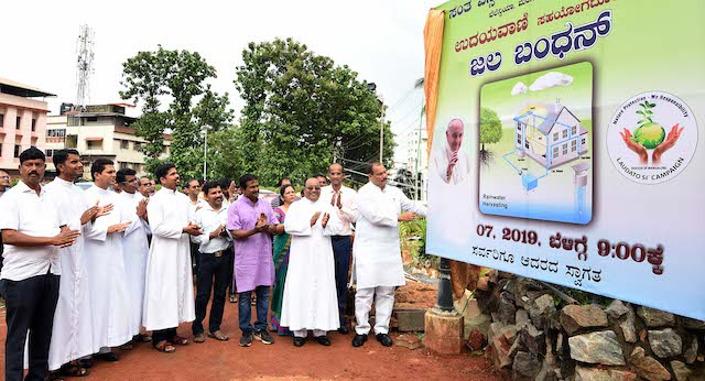MLC Ivan D'Souza inaugurates Rain Water Harvesting at Valencia church