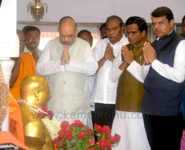 Amit Shah BJP president Amit Shah on three-day visit to Mumbai, receives grand welcome