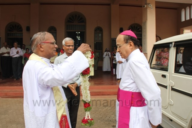Bishop on Pastoral Visit to Kemmannu Church.