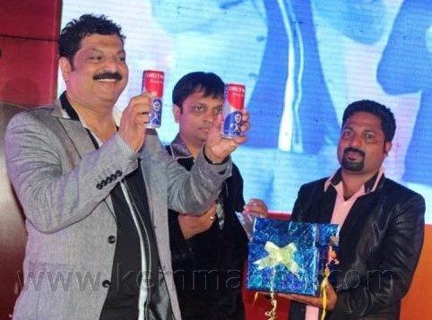 Chilly Willy promotes Energy Drink during Tulu Film Awards in Mangalore.