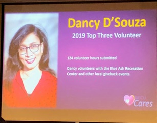 Mangalurean Dancy D'Souza honored for volunteering at Voice of America