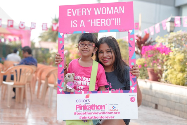 Baby Wearing Mothers Meet, a promo-event for Colors Pinkathon Bengaluru