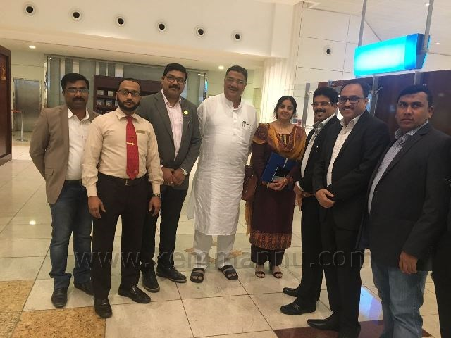 KNRI UAE TEAM WELCOMED KARNATAKA EDUCATION MINISTER TANVIR SETH