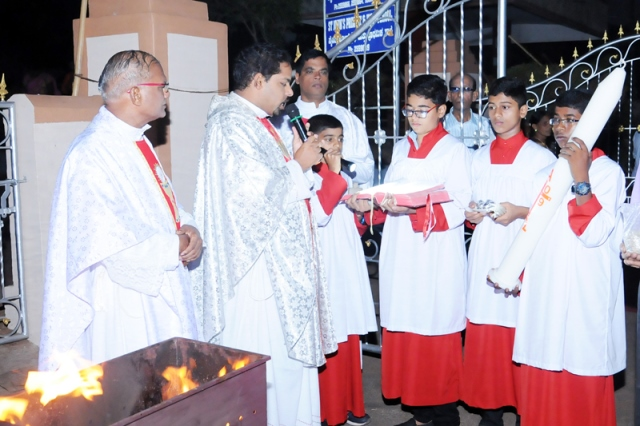 Easter Celebration at st John the evangelist church, shankerpura