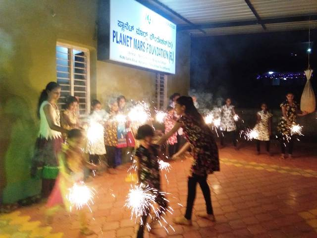 Deepavali celebrations at Planet Mars Foundation(R), Kallianpur.