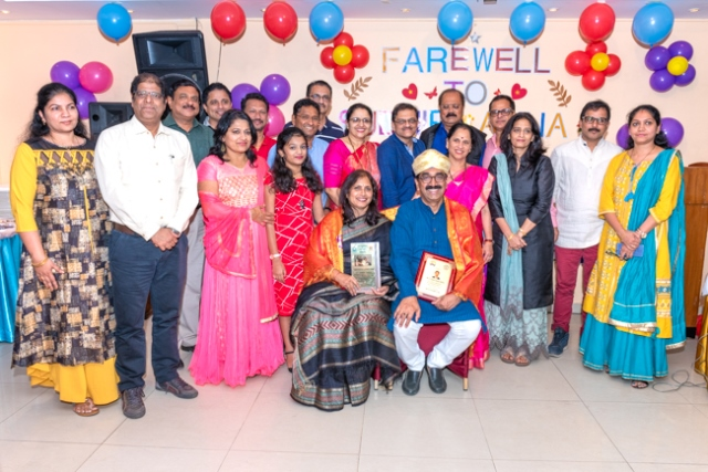 Abu Dhabi Karnataka Sangha gives farewell party to Mr. Y. Sudhir Kumar Shetty