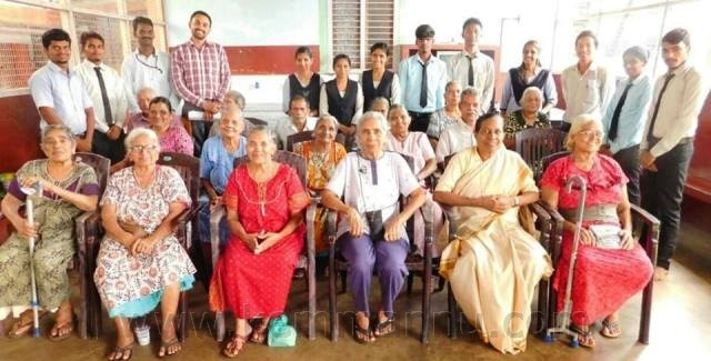 Milagres, Thenkanidyoor and Kaup PG Social Work students Celebrated Elderly Day at Ozonam Old Age Home, Kallianpur.