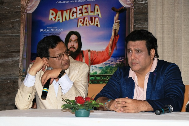 Hearing of Govinda and Pahlaj Nihalani's film 'Rangeela Raja' on 12 Nov