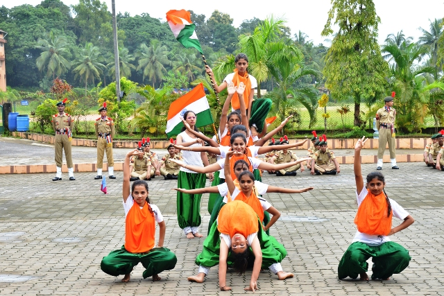 Independence Day Celebrated at St Philomena College Puttur