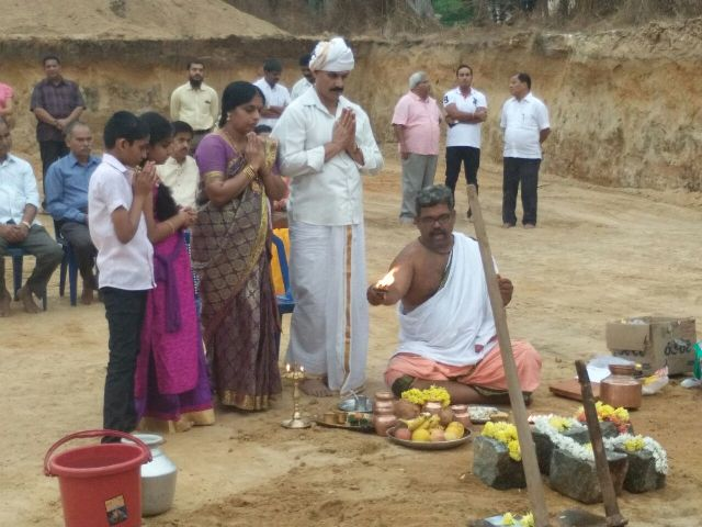 Foundation Stone laid for Jathan Arcade at Hampankatte, Kemmannu.