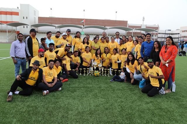Coastal Friends and Karnataka Sangha Bag KSSM Throwball Trophy