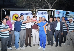 Kuwait: Sharq United Lift KCWA Cricket Cup for a Hatrick Time
