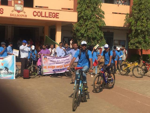 Milagres College and Rotary Bicycle Rally held