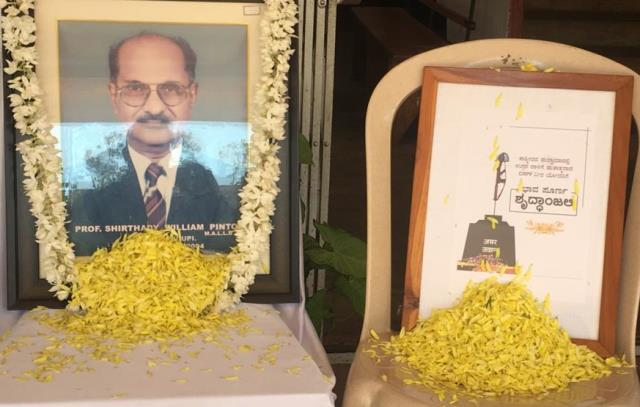 Milagres College mourns the death of Rtd. Prof. William Pinto & CRPF soldiers