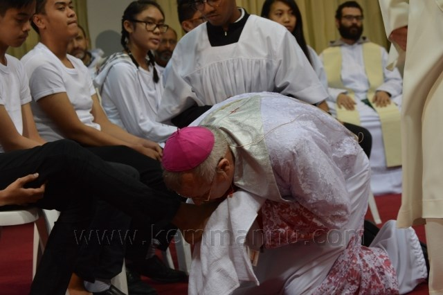 Maundy Thursday observed at St. Joseph's Cathedral, Abu Dhabi.
