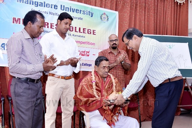Mangalore University Fine art competetions held at Milagres College, Kallianpur