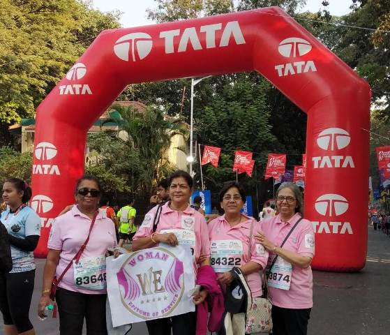 WE District members @ Mumbai Marathon 2020