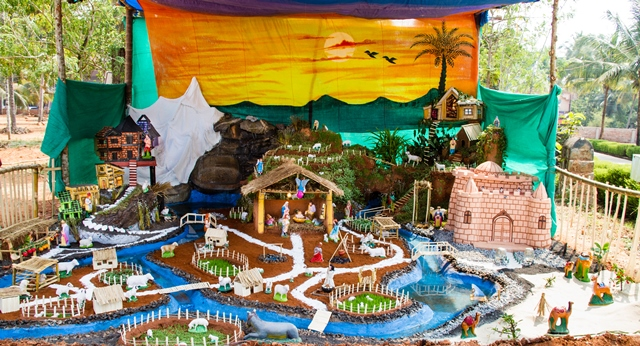 Crib making competition - Mount Rosary, Bhrahmavar and Kolalgiri bags prizes.