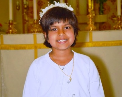 nicole's first holy communion