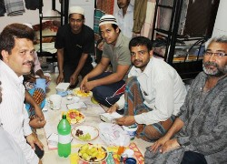 NAMA TULUVERU SHARED IFTAR WITH LABOURERS IN SONAPUR CAMP DUBAI