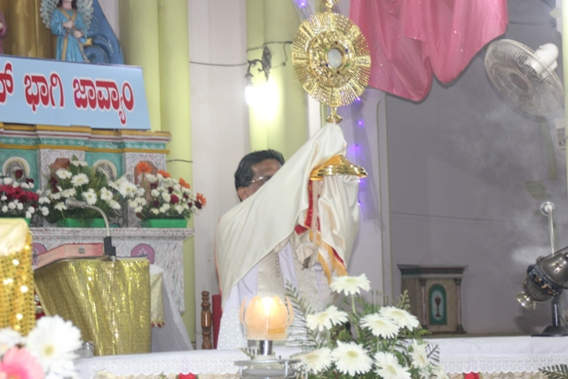 Kemmannu:New Year 2018 Eve celebration at Kemmannu Church.