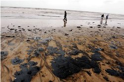 Oil spills from MV Rak, Mumbai Police vacates Juhu beach
